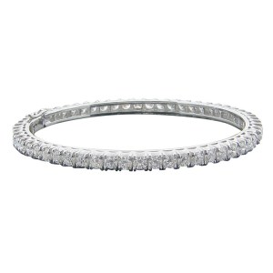 5.70 CTW Diamond Hinged Bangle Bracelet