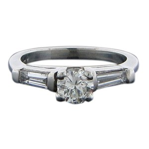 Platinum Diamond .54 Carat Engagement Ring