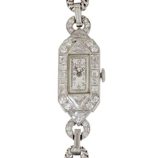 Ladies Diamond Art Deco Wrist Watch by Tiffany