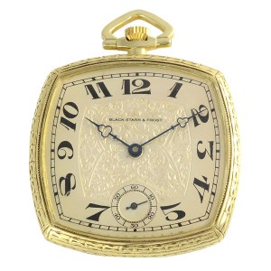 Swiss Open Face Pocket Watch by Black Starr & Frost