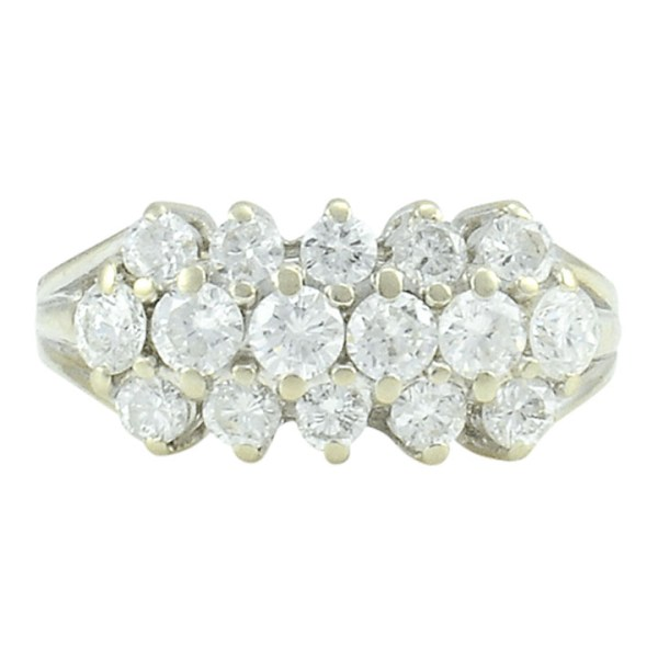 1.10 CTW Diamond White Gold Ring