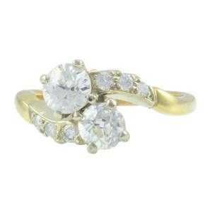 1.27 CTW Diamond Bypass Engagement Ring