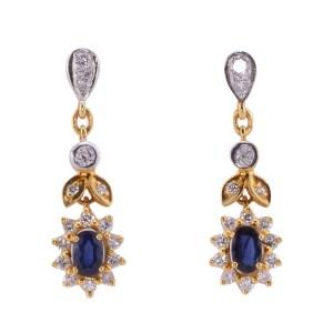 sapphire dangle earrings