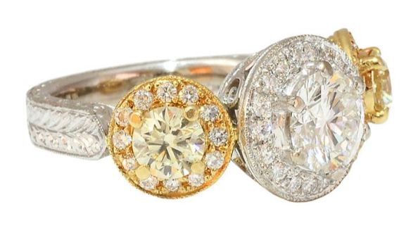 GIA Certified S-X Colored Side Diamond Ring