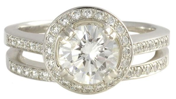 GIA Certified VS1 1.16 Carat Center Diamond Wedding Set