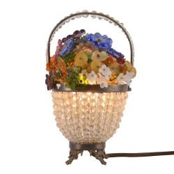 Crystal Dresser Flower Basket Style Lamp