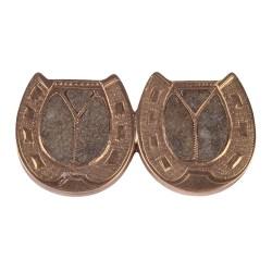 14 Karat Double Lucky Horseshoe Pin
