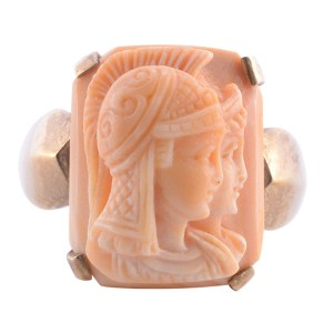 double image cameo ring