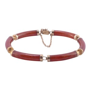red jadeite bracelet