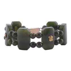 Octagonal Link Nephrite Bracelet