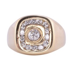 .90 CTW Mens Diamond Ring