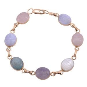 carved quartz bracelet