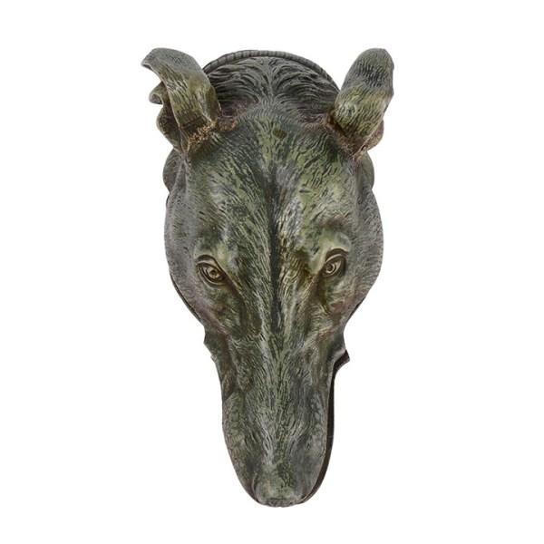 bronze greyhound head