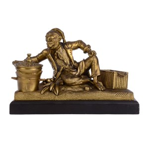 monkey cook bronze