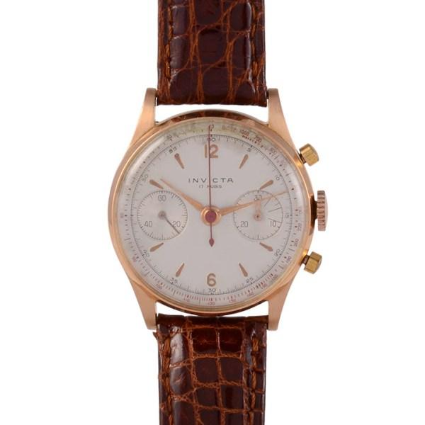 Invicta rose gold chronograph
