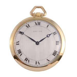 Cartier 18K pocket watch