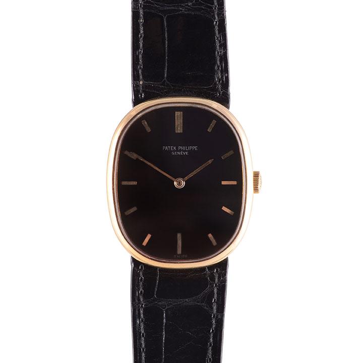 black dial Patek Philippe wrist watch
