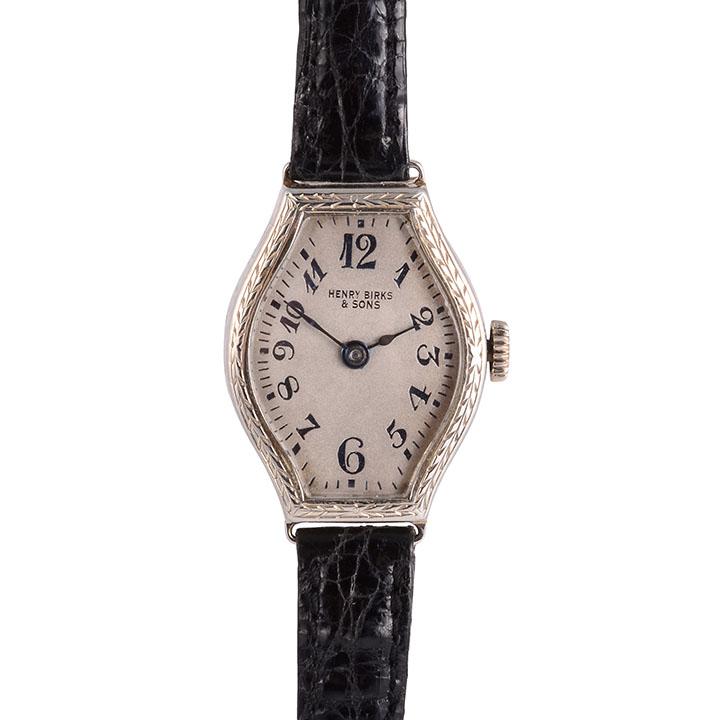 18K white gold ladies wrist watch