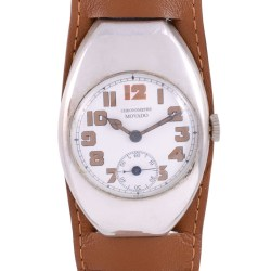 Movado Rare WWI Sterling Silver Wrist Watch