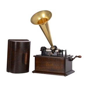 Edison Standard Phonograph with All Brass Horn