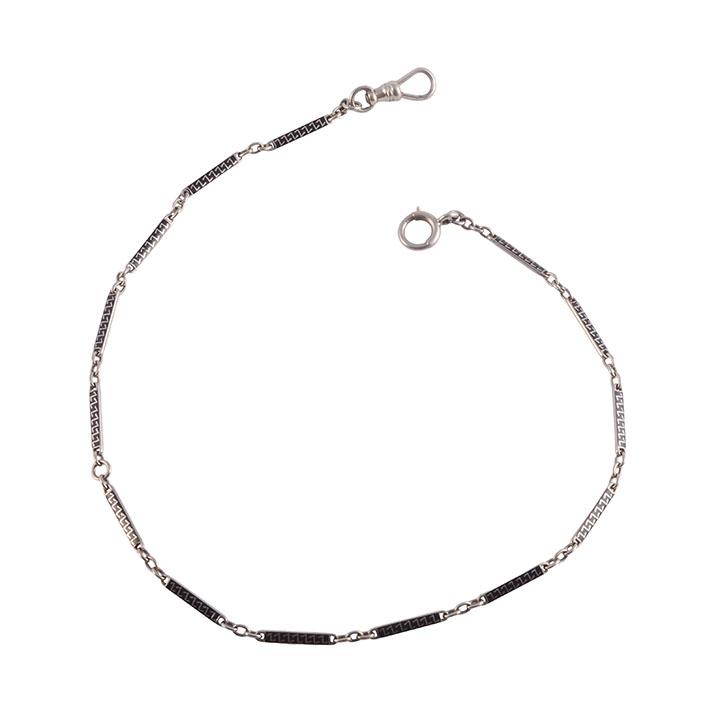 Gold Black Enameling Pocket Watch Chain