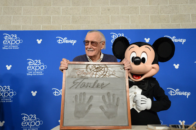 Stan Lee and Mickey Mouse