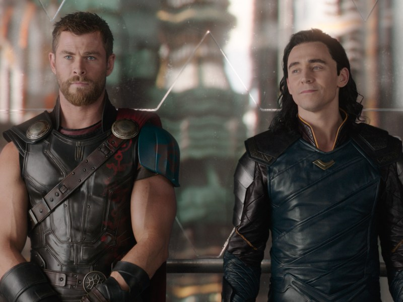 Thor (Chris Hemsworth) and Loki (Tom Hiddleston) in Thor: Ragnarok.