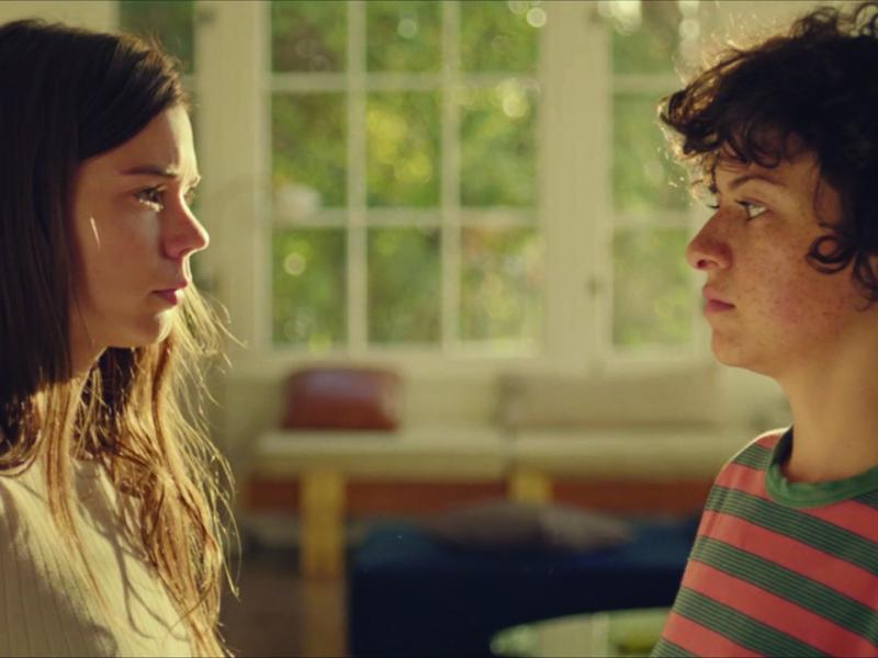 Alia Shawkat as Alia and Laia Costa as Laia in DUCK BUTTER.