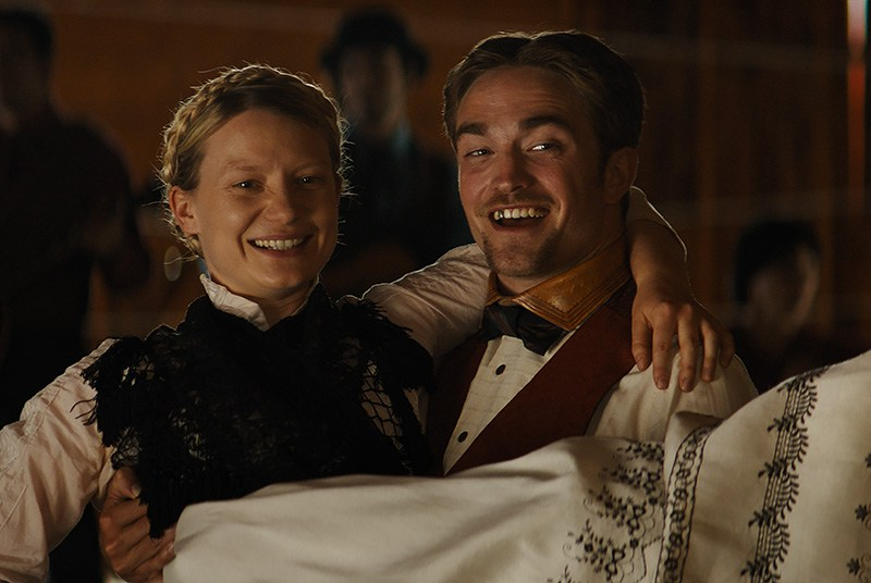 Robert Pattinson and Mia Wasikowska in DAMSEL, a Magnolia Pictures release.