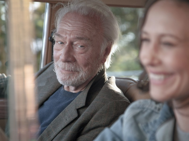 Christopher Plummer as Jack and Vera Farmiga as Laura in Boundaries