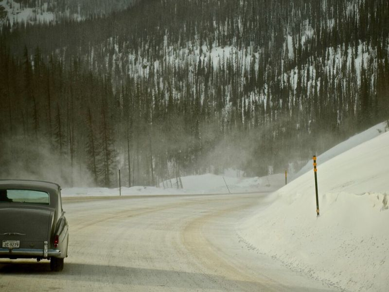 Elvis Presley's 1963 Rolls-Royce in the Rocky Mountains, Colorado, in Eugene Jarecki's THE KING.