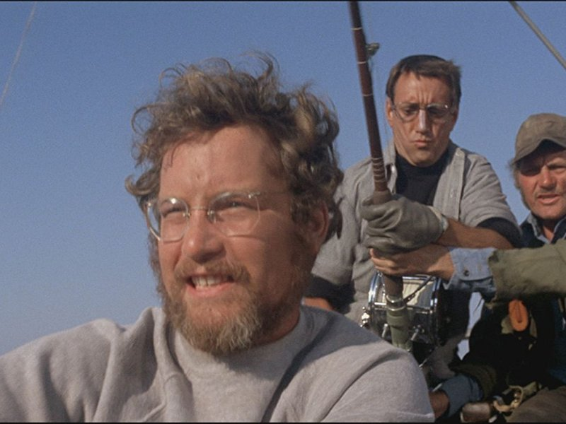 Richard Dreyfuss, Roy Scheider, and Robert Shaw in Jaws.