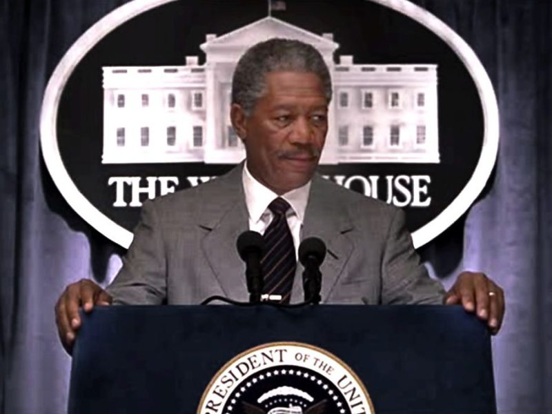 Morgan Freeman as President Tom Beck in Deep Impact.