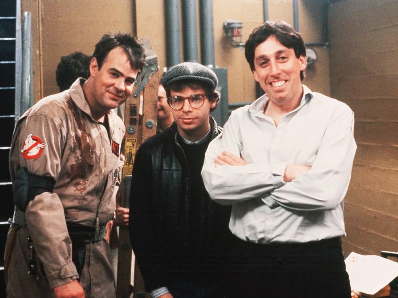 Dan Aykroyd, Rick Moranis, and Ivan Reitman.