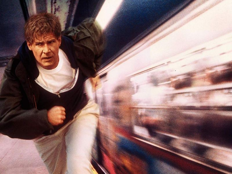Harrison Ford in The Fugitive.