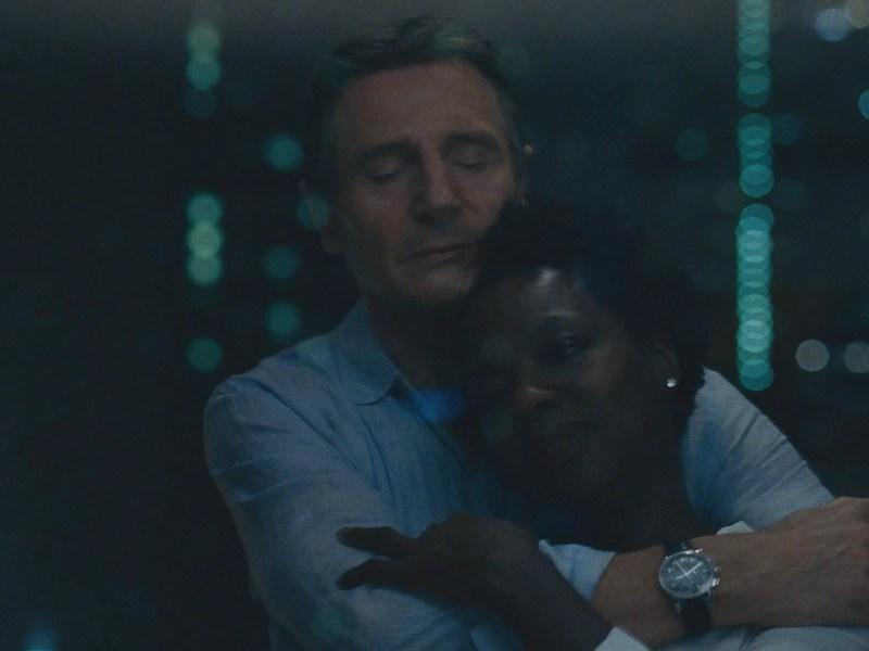 Liam Neeson and Viola Davis in Twentieth Century Fox's WIDOWS.
