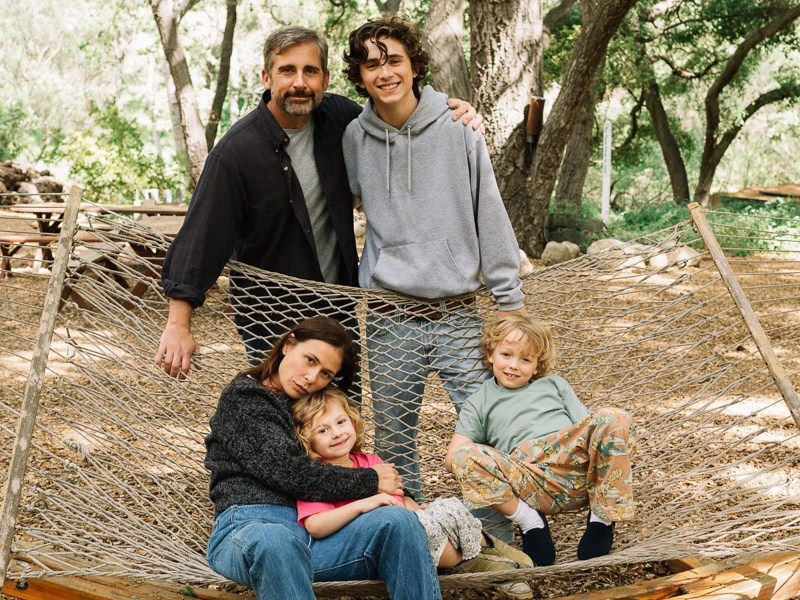 Steve Carell, Maura Tierney, Timothée Chalamet, Oakley Bull, and Christian Convery star in BEAUTIFUL BOY.
