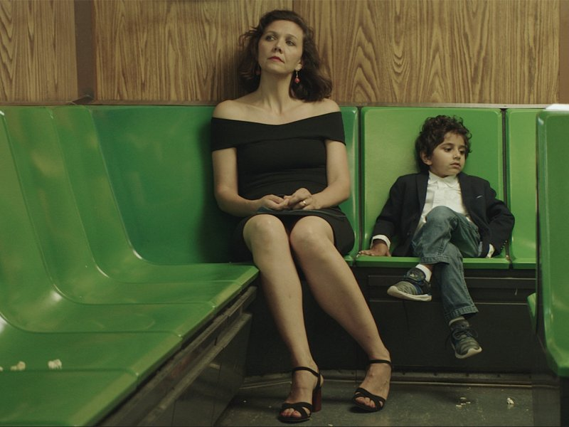 Maggie Gyllenhaal and Parker Sevak in The Kindergarten Teacher.