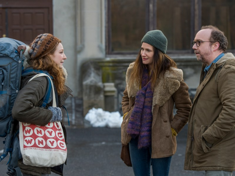 Kayli Carter, Kathryn Hahn, and Paul Giamatti in Private Life.