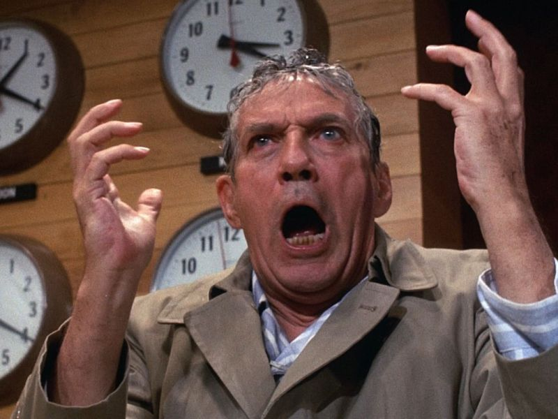 Peter Finch in Network.