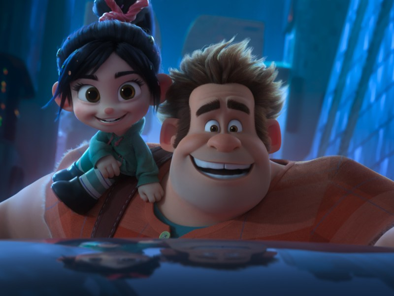 Vanellope (Sarah Silverman) and Ralph (John C. Reilly) in Ralph Breaks the Internet.