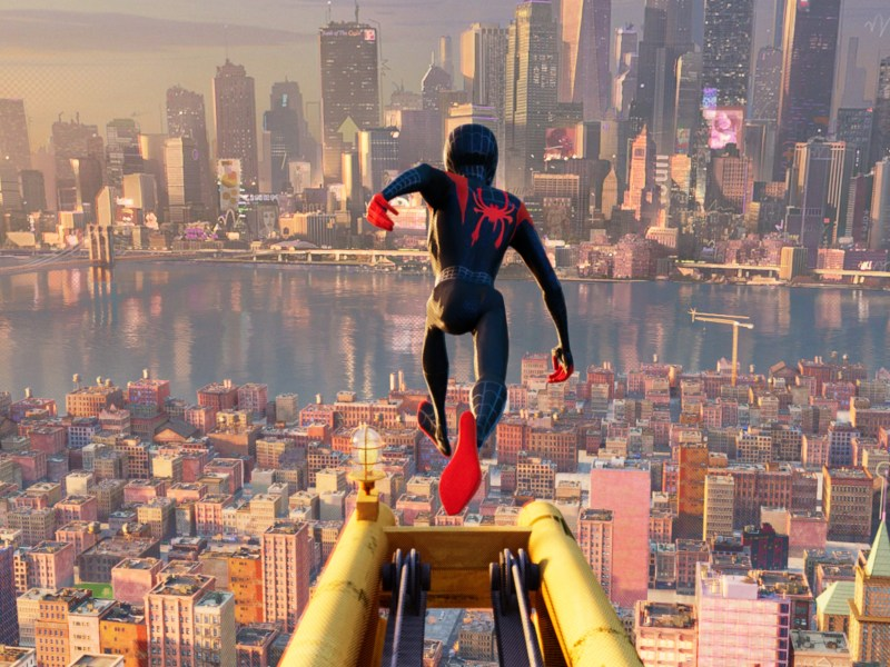 Miles Morales (Shameik Moore) as Spider-Man in Sony Pictures Animation's Spider-Man: Into The Spider-Verse.