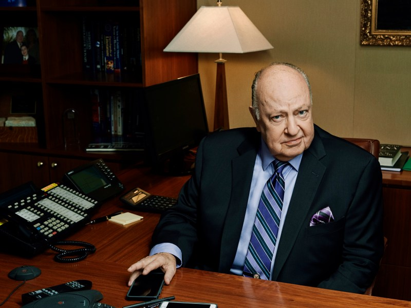 Roger Ailes poses in his office, 2015 in DIVIDE AND CONQUER: THE STORY OF ROGER AILES, a Magnolia Pictures release.
