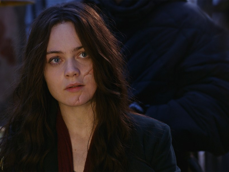 "Hera Hilmar as Hester Shaw in ""Mortal Engines."""