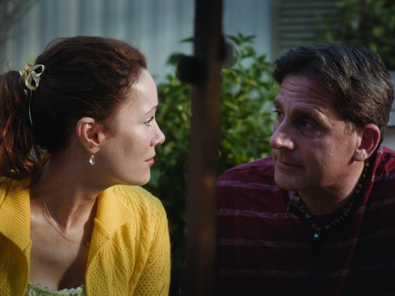 "In ""Welcome to Marwen,"" directed by Robert Zemeckis, Leslie Mann plays Nicol, the new neighbor of artist Mark Hogancamp, played by Steve Carell."
