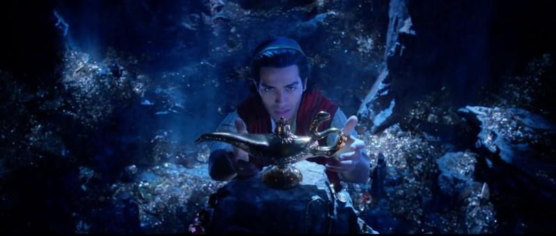Mena Massoud as Aladdin in Disney's Aladdin.