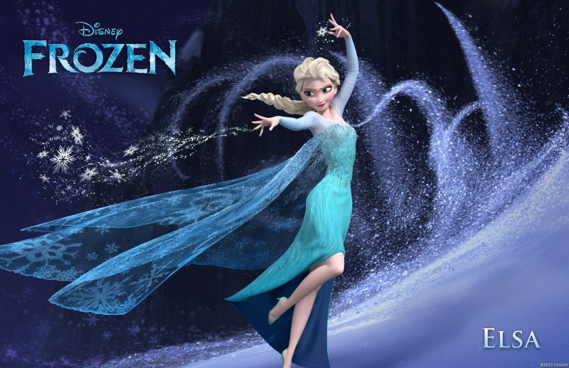 Elsa in Disney's Frozen.