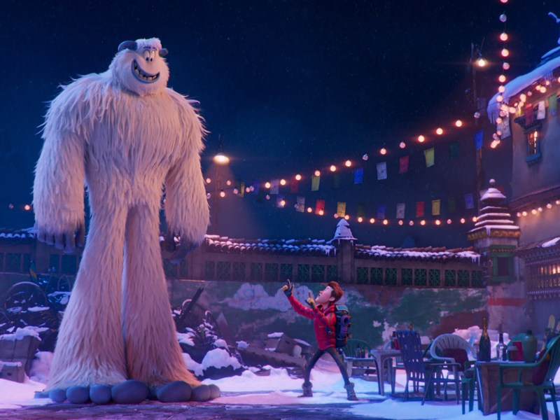 (L-R) Migo voiced by CHANNING TATUM and Percy voiced by JAMES CORDEN in the new animated adventure Smallfoot, from Warner Bros. Pictures and Warner Animation Group.
