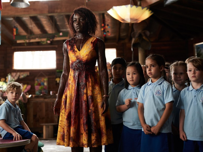 Diesel La Torraca, Lupita Nyong'o, Ashton Arokiaswamy, Kim Doan, Caliah Pinones, Vivienne Albany and Jack Schuback appear in Little Monsters by Abe Forsythe, an official selection of the Midnight Program at the 2019 Sundance Film Festival.