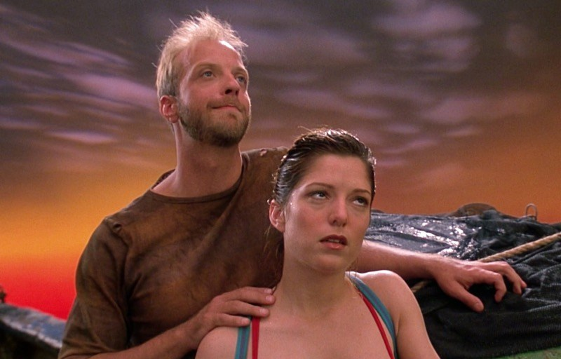 Chris Elliott and Melora Walters in Cabin Boy.